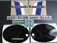 1982 Kawasaki Kx 125 Gas Tank, Swingarm, Rear Plate & Side Panel Decal Kit