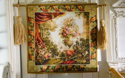 1//12 Scale Dollhouse Still Life Flowers Drape Urn Trees Tapestry