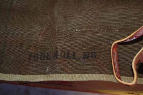 WWII US M6 tool roll jeep MB GPW Original nos kahki