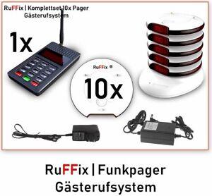 Hospitalier Ruffix ® L'original | Gästeruf System V2 | 10x Funkpager | 1x Fin Unité |-afficher Le Titre D'origine