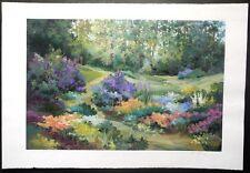 "Landscape-""Summer Jubilee""-Alix Stefan-Acrylic Painting On Paper-One of One"