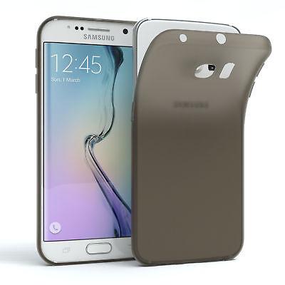 Schutz Hülle für Samsung Galaxy S6 Edge Cover Handy Case Matt Schwarz