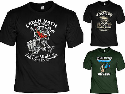 Anglershirt Top Geschenk Angler Cooles T-Shirt für Angler Anglerzubehör