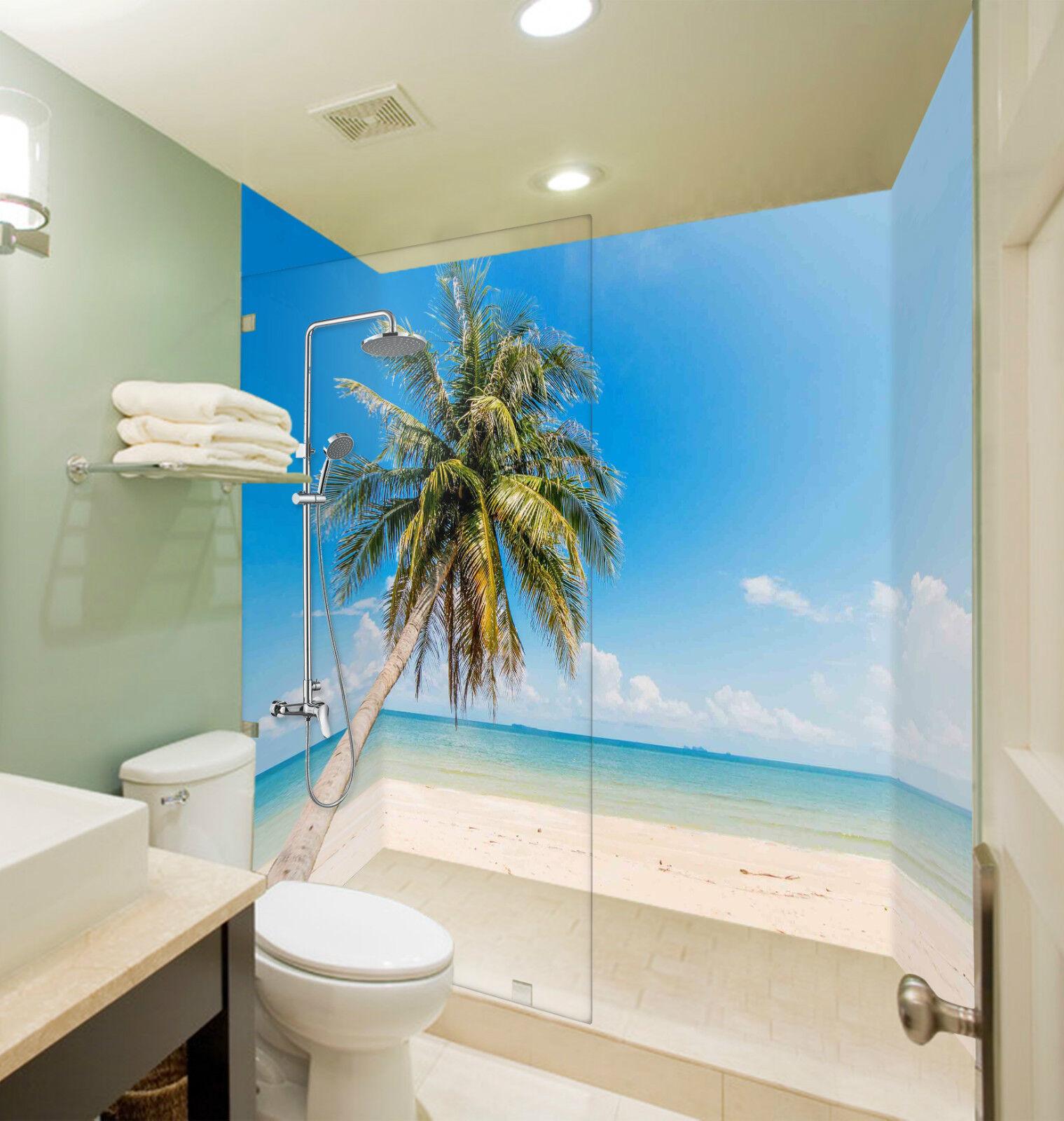 3D Sea Beach Tree 141 WallPaper Bathroom Print Decal Wall Deco AJ WALLPAPER CA