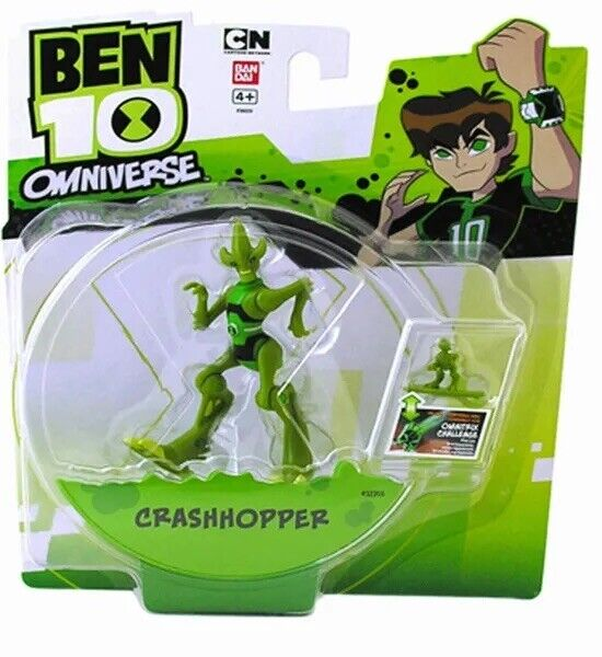 "BEN 10 TEN OMNIVERSE CRASHHOPPER ACTION FIGURE! 4"" INCH 10 CM. RARE UK! ALIEN"