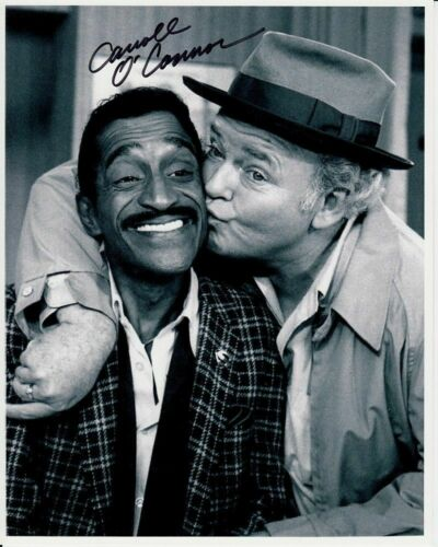 "ARCHIE BUNKER AND SAMMY DAVIS 8/"" X 10/"" GLOSSY PHOTO REPRINT"