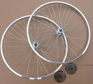 "WHEELS 26x1 3//8/"" Single speed Rear Front Wheelset Vintage Town Bicycle Bike"