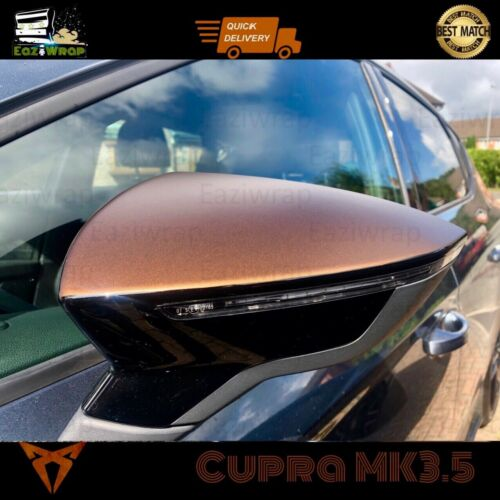 Eaziwrap SEAT Leon MK3 /& MK3.5 FR Cupra Mirror Overlay Vinyle stickerDecal cuivre