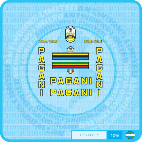 Pagani - Bicycle Decals Transfers - Stickers - Set 1