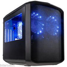 KOLINK SANCTUARY MICRO-ATX caja de cubo con dos laterales de iluminación LED azul WINDOWS AND