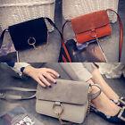 1pc Womens Leather Messenger Crossbody Satchel Handbag Ring Chain Shoulder Bag
