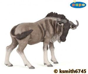 Papo GNU solide Jouet en plastique figure Wild Zoo Animaux gnou NOUVEAU *