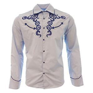 255f283205 Cowboy Shirt Camisa Vaquera Western Wear El General Long Sleeve Sky ...