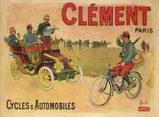 Letrero De Metal Motocicleta Clement Paris ciclos automóviles A4 12x8 Aluminio