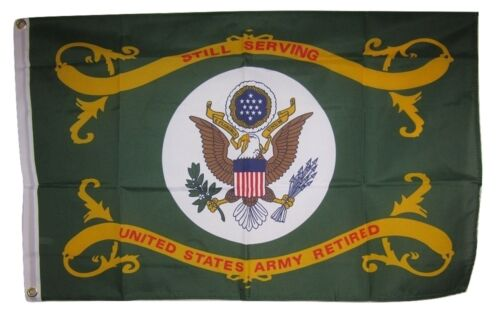 2x3 Still Serving United States Army Retired Flag 2/'x3/' House Banner Grommets