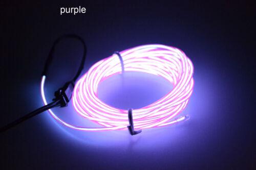 String & Fairy Lights 1/3/5M LED Flexible EL Wire Neon Glow String ...
