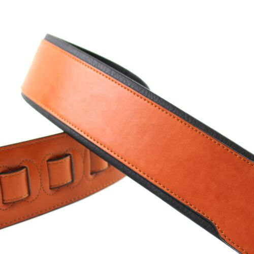 Walker /& Williams G-01 Bright Chestnut Padded Guitar Strap Glove Leather Back