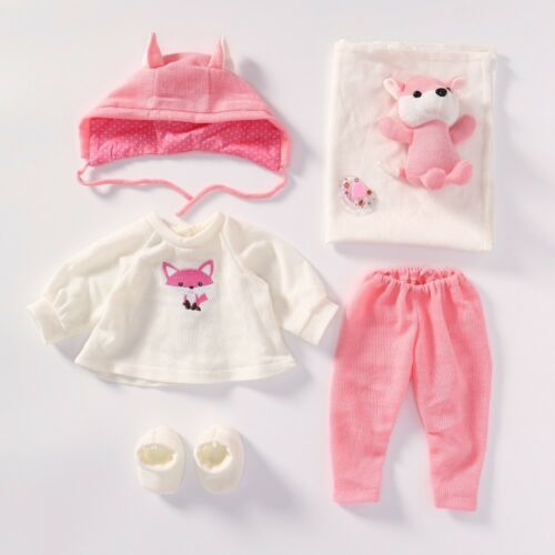 Accessories For 20/'/'-22/'/' Reborn Baby Girl Doll Clothes Sets+Extra Plush Gift