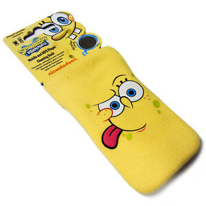 Spongebob-Squarepants-Mobile-Phone-Cleaning-Sock-Case-with-Microfibre-Lining