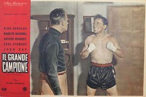 """""""LE CHAMPION (CHAMPION)"""" Affiche italienne originale entoilée 1949 Kirk DOUGLAS bVgfRdqo-07165439-893549891"""