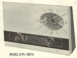 1963 AIRLINE GPS-1690A GPS-1697A GPS-1867A 1872A RADIO SERVICE MANUAL PHOTOFACT