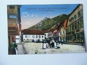 Ansichtskarte-Rappoltsweiler-Vogesen-Blick-auf-Ruine-Giersberg-Ulrichsburg