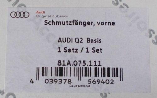 Nuevo Genuino Audi Q2 delantero para accesorios mudflaps Conjunto