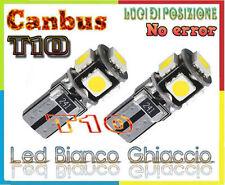 2x LUCI POSIZIONE A 5 LED SMD T10 CANBUS BIANCO GHIACCIO PER OPEL ASTRA J 09-12