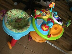 bright stars baby walker and play station