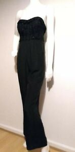 586f2c1cc4a Image is loading TED-BAKER-Karlina-textured-bustier-jumpsuit-size-2-