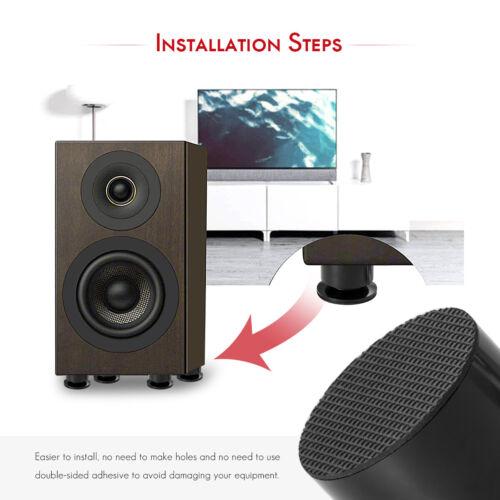 4PCS Aluminium Speaker Spikes+Pads Isolation Stand Feet Mats for HiFi Amplifier
