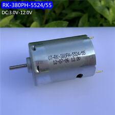 Dc 3v 6v 9v 12v 47500rpm High Speed Power Mini Rk 380ph Electric Motor Drill Toy