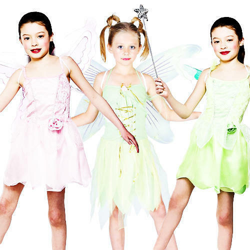 Fairy Costume Wings Girls Fancy Dress Fairytale Book Charater Kids Costume New