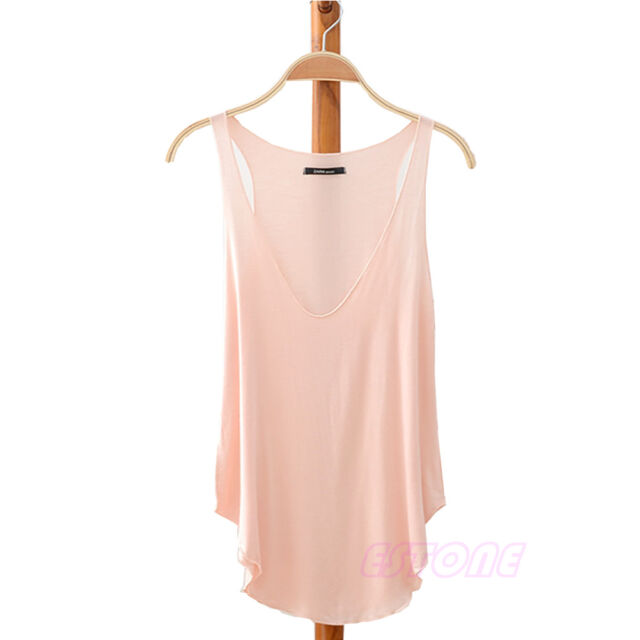 Fashion Womens V-Neck Vest Summer Loose Sleeveless Tank T-Shirt Tops