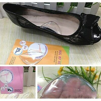 Girls Silicone Womens Shoes Inserts Insole Foot Arch Cushion Pad new ca
