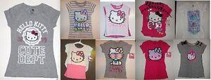 Hello-Kitty-girls-tops-T-Shirt-Various-Styles-amp-Sizes-4-5-6-6X-7-8-10-12-NWT