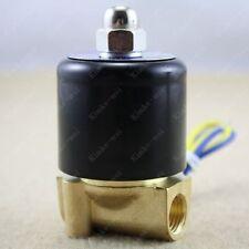 """12V 1/4"""" Elektro Magnetventil Ventil f. Wasser Luft Gas"""