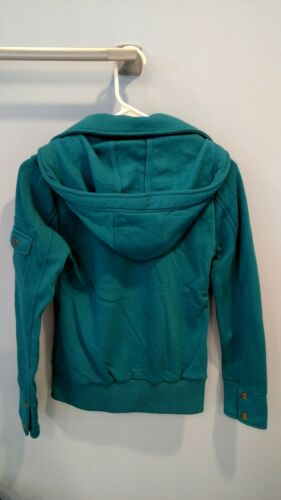 Coat Peacoat Teal Ambiance Small avec New central corps Pea capuche 6401 xBF76S