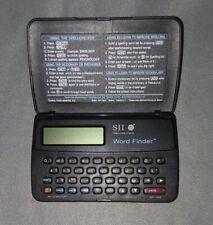Seiko SII Instruments Wp-1600 Wordfinder Crossword Thesaurus