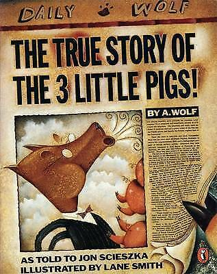 1 of 1 - The True Story of the Three Little Pigs by Jon Scieszka (Paperback, 1996)