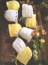 Baby Bonnets 0-15 months  DK  Knitting Pattern
