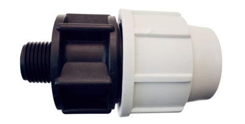 """Raccord Droit Ø50 x 1/""""M PLASSON Compression Polyéthylène Arrosage-14FM503400F"""