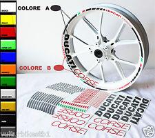 Adesivi per ruote moto Ducati Corse tutti i modelli Ducati ruote da 17 pollici