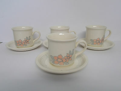 4 x Biltons Coloroll Floral Design Cups & saucers - Lovely