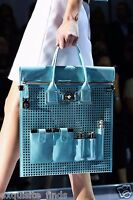 $4k Versace Perforated Patent Leather And Snakeskin Bag
