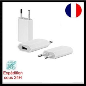 Chargeur-Adaptateur-Mural-De-Voyage-USB-Blanc-Universel-pour-iPhone-5-6-7-8-LOTS