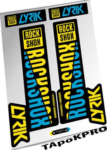 2018 New Custom RockShox Lyrik fork glossy lamination stickers kit