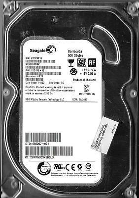 PN 1BD142-021 TK Z3T ST500DM002 FW HP73 Seagate 500GB SATA 3.5 Hard Drive