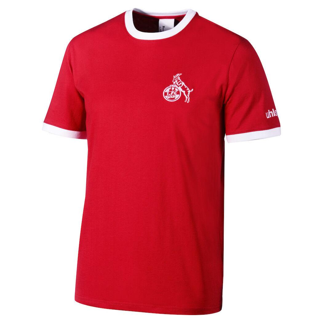 Uhlsport 1. FC Köln T-Shirt Retro 1948 rot weiß  | Elegante Und Stabile Verpackung