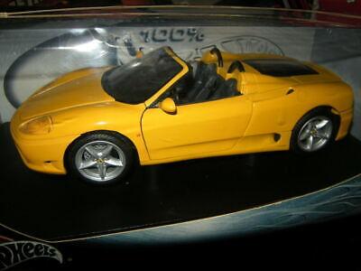 1 18 Hot Wheels Ferrari 360 Spider Gelb Yellow In Ovp Ebay